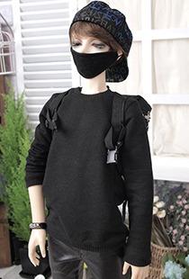 플레인 맨투맨[SDB]_Black